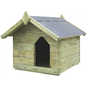 Multidom Psia búda s otváracou strechou, impregnovaná borovica