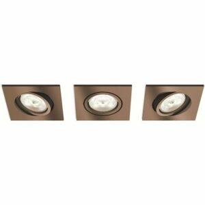 Philips 50393/05/P0 – SADA 3x LED Stmievateľné podhľadové svietidlo SHELLBARK 3xLED/4,5W/230V