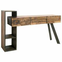 Písací stôl CITY, prírodná akácia/sivá