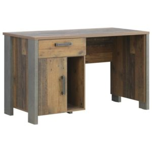 Písací stôl CLIF, staré drevo/betón
