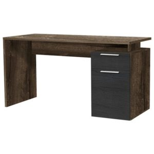 Písací stôl NET, dub bahnitý/dub čierny