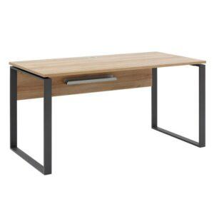 Písací stôl RYDER, dub riviera/antracitová, 150×76 cm