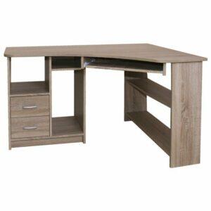 Rohový PC stôl JANA, pravá