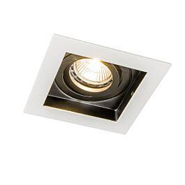 Sada 10 zapustených bodových svetiel z bielej ocele – Carree