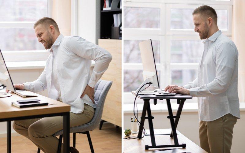 Práca pri klasickom vs. práca na stojacom písacom stole