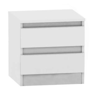 2 šuplíkový nočný stolík, biela, HANY NEW 002