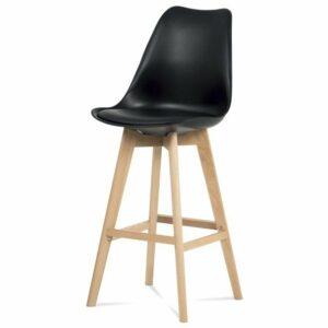 Barová stolička JULIETTE, čierna/buk