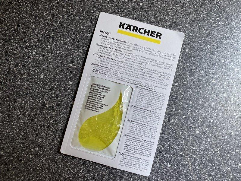 Žltý čistiaci prostriedok Kärcher