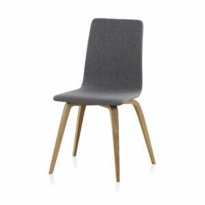 Drevená čalúnená jedálenská stolička Geese