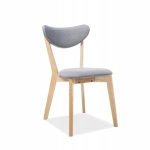Jedálenská stolička Brando – sivá / dub