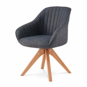 Jedálenská stolička CHIP I, tmavo sivá/buk