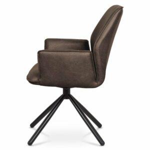 Jedálenská stolička DEBORA, hnedá/čierna