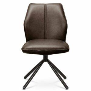 Jedálenská stolička FABIANA, hnedá/čierna