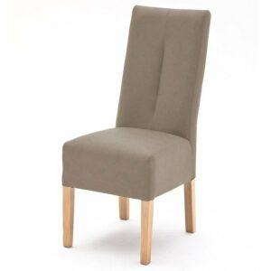 Jedálenská stolička FABIUS, sivá/dub