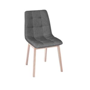 Jedálenská stolička, svetlý buk/látka sivá, GALIO