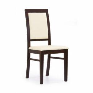 Jedálenská stolička Sylwek 1 – orech tmavý / krémová