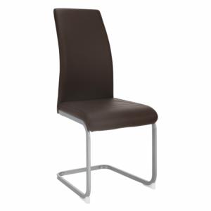 Jedálenská stolička, tmavohnedá/sivá, NOBATA