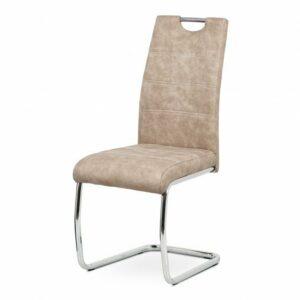 Jedálenská stolička ZOEY, krémová/kov
