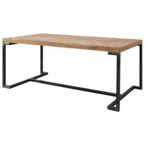 Jedálenský stôl PARQUET, prírodná akácia/sivá