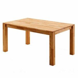 Jedálenský stôl PAUL, dub divoký, 160 cm, rozkladací