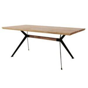 Jedálenský stôl YOGA, prírodný palisander/čierna