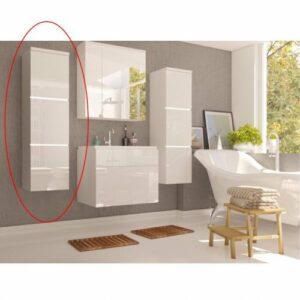 Kúpeľňová skrinka na stenu Mason WH 11 – biela / biely vysoký lesk