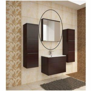 Kúpeľňová skrinka na stenu so zrkadlom Mason WE 14 – wenge