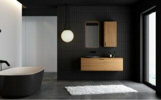 Kúpeľňový nábytok v modernej kúpeľni