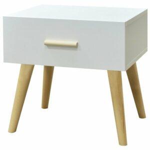 Nočný stolík CRAZY, biela/buk