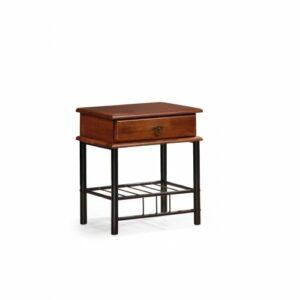 Nočný stolík Fiona – čerešňa antická / čierna