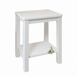 Nočný stolík Fosil – biela