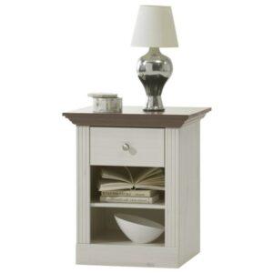 Nočný stolík MONACO 001, borovica biela