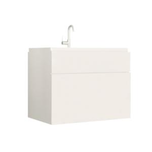 Skrinka pod umývadlo, biela/biely extra vysoký lesk HG, MASON WH13