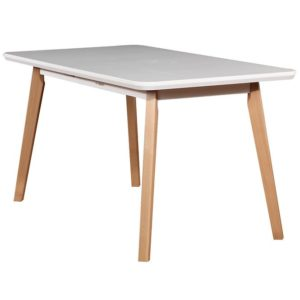Stôl ST41 140×80+40 biely/buk