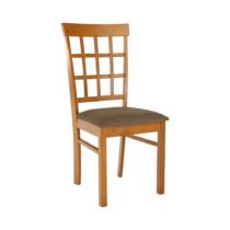 Stolička, čerešňa/béžovohnedá, GRID NEW