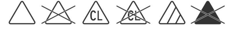 Symboly prania - bielenie