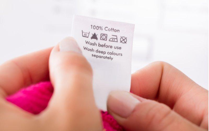 Symboly prania na štítku
