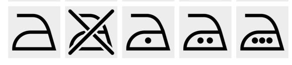 Symboly prania - žehlenie
