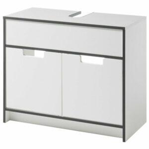 Umývadlová skrinka NEWPORT, biela/antracitová
