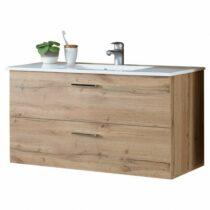 Umývadlová skrinka s umývadlom BEST, dub divoký