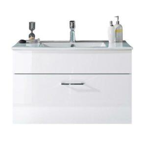 Umývadlová skrinka SPLASH, biela vysoký lesk