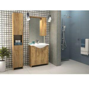 Vysoká skrinka do kúpeľne Bratysława C32 2D1S DSM dub zlatý
