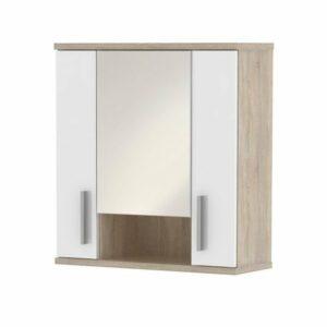 Zrkadlová skrinka LINDA LI01, dub sonoma/biela