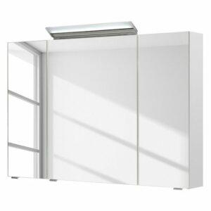 Zrkadlová skrinka s osvetlením FILO ORIA III, biela
