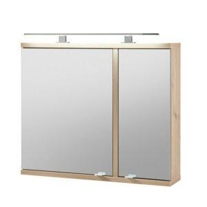 Zrkadlová skrinka TROJA, dub artisan
