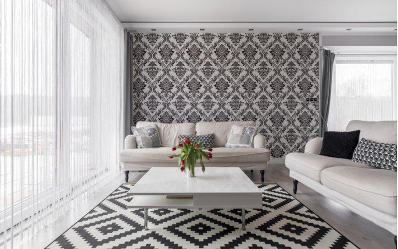 Čierno-biela obývačka