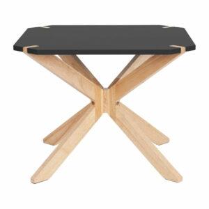 Čierny konferenčný stolík Leitmotiv Mister, 65 x 65 cm