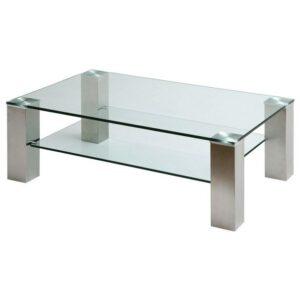 Konferenčný stolík AIDAN II, oceľ/sklo