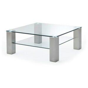 Konferenčný stolík AIDAN, oceľ/sklo