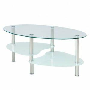 Konferenčný stolík HAMBURG, sklo/oceľ